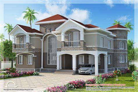 style home designs 4 bedroom floor indian luxury home design kerala home design and floor plans