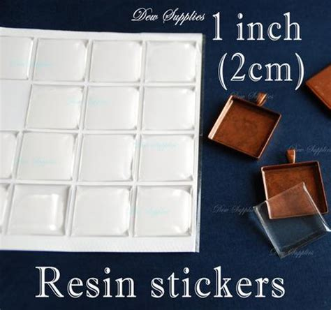 scrabble tile stickers 50 clear resin drop stickers for scrabble tiles 20mm x