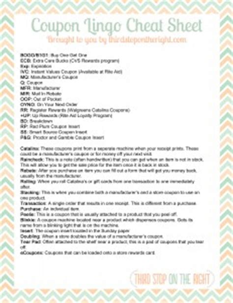 Home Decorating Parties download the coupon lingo cheat sheet printable third