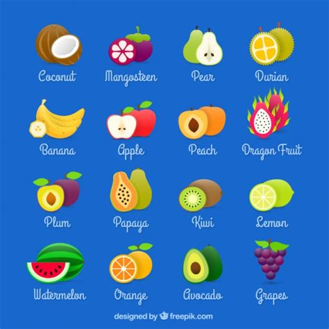 fruits for fruits collection vector free