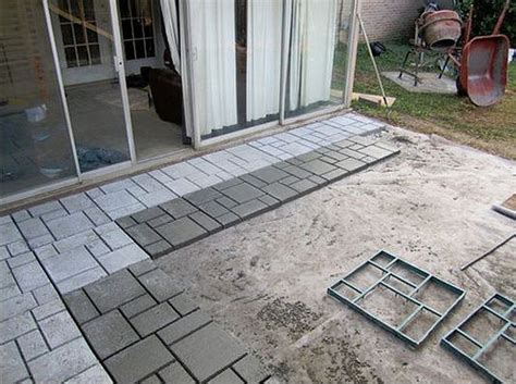 cheap patio floor ideas 9 diy cool creative patio flooring ideas the garden glove