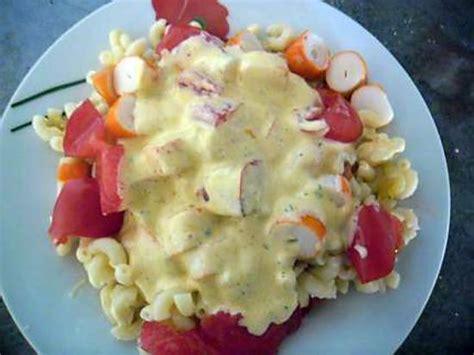 recette de salade de pates au surimi sauce onctueuse
