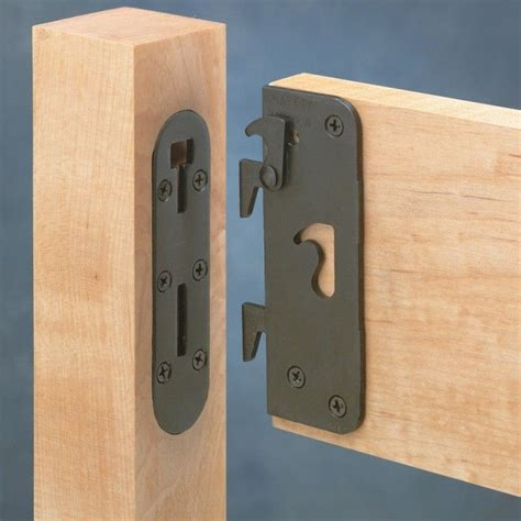 wood bed frame hardware locking safety bed rail brackets rockler woodworking and