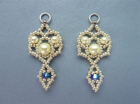 free beaded earring patterns beaddiagrams free beading patterns