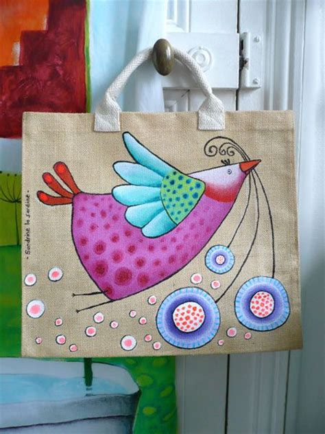 acrylic paint on a canvas bag galerie country painting artworks