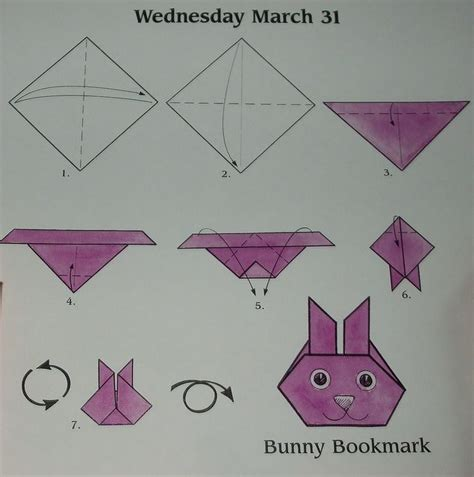 origami up bunny bunnies photos and bookmarks on