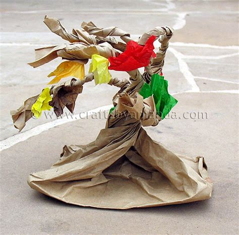 paper bag tree craft paper bag tree crafts by amanda