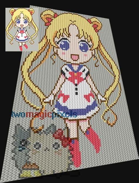 sailor moon knitting patterns sailor moon sc tss c2c cross stitch home crocheting