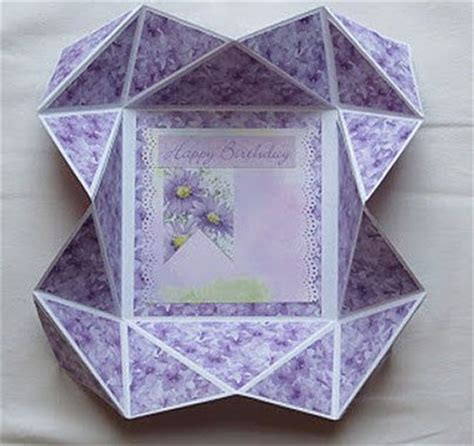 origami card box origami card card folds