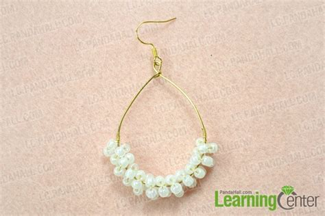 make jewelry at home how to make your own teardrop hoop earrings at home