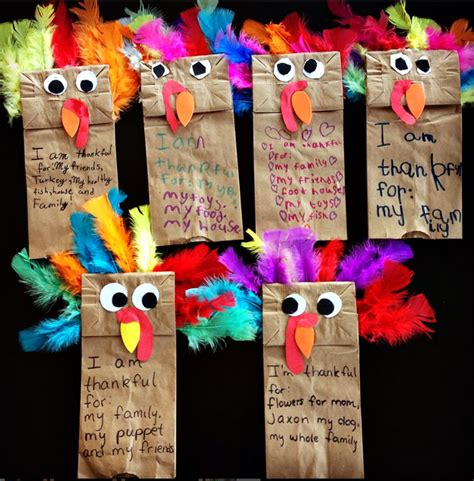 paper bag turkey crafts paper bag turkey puppets thanskgiving craft crafty morning