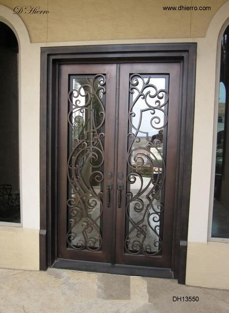 metal front doors for homes with glass iron doors exterior eclectic exterior other metro