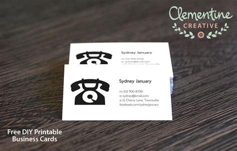 make a calling card free diy printable business card template