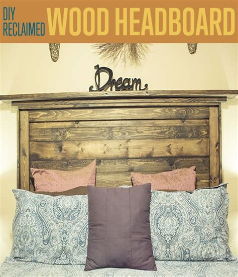make wood headboard how to make a reclaimed wood headboard diy ready