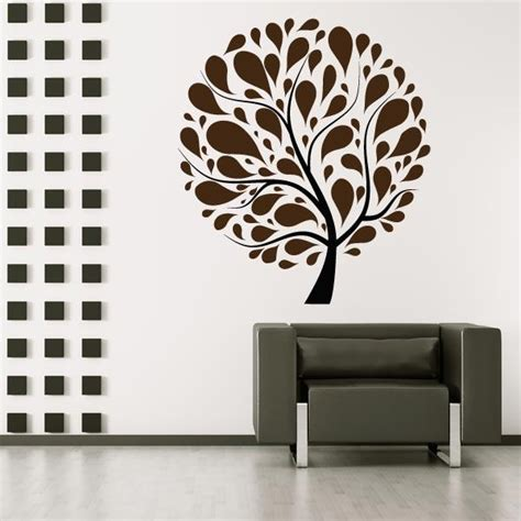 retro circle tree wall sticker mural wall decal world