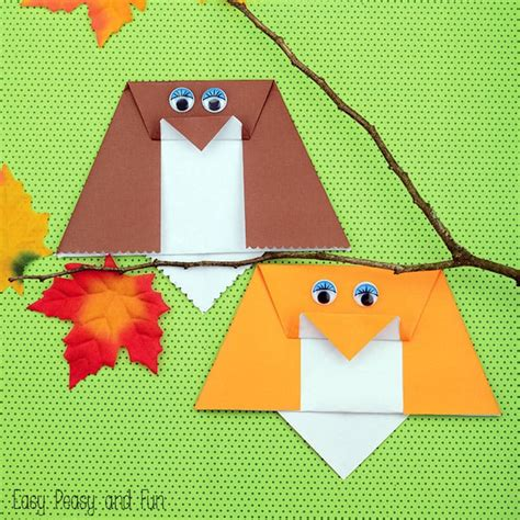 owl origami easy simple origami owl origami for easy peasy and