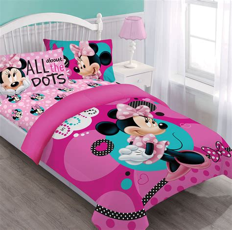 disney bedding set disney minnie dreaming in dots comforter set w fitted sheet