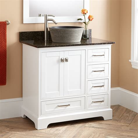 white bathroom vanities cabinets 36 quot quen vessel sink vanity white bathroom vanities