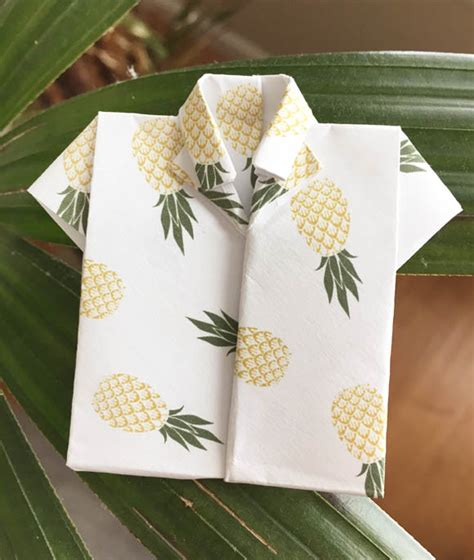 origami hawaiian shirt printable pineapple origami paper zakka
