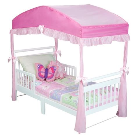 canopy bed for toddler delta children toddler bed canopy target