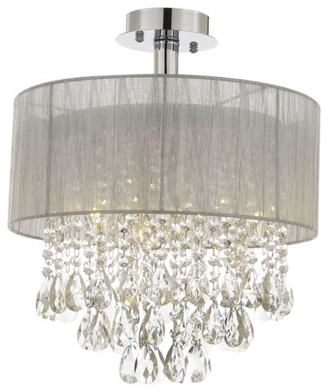 silver and chandeliers silver and 15 quot w ceiling light chandelier flush