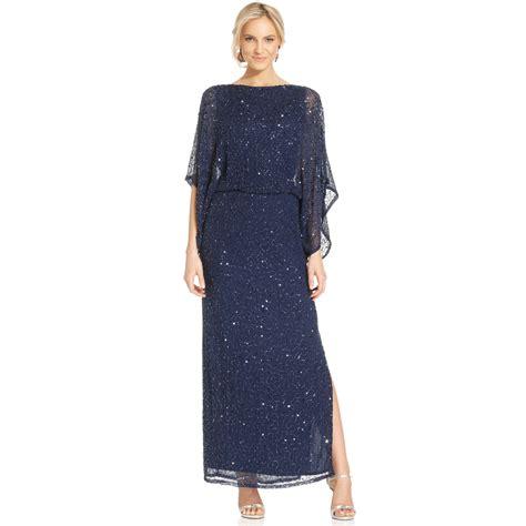 patra beaded dress patra kimonosleeve beaded blouson gown in blue lyst