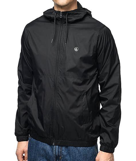 wind breaker volcom ermont black windbreaker jacket