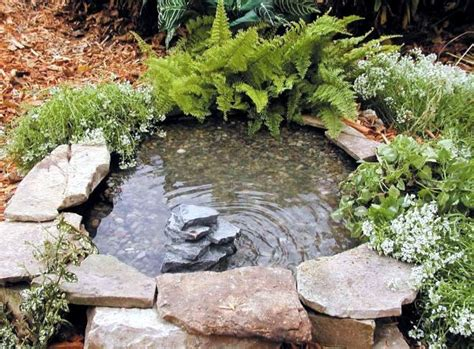 Bathroom Tub Ideas create a mini garden pond in the mortar bed and replant