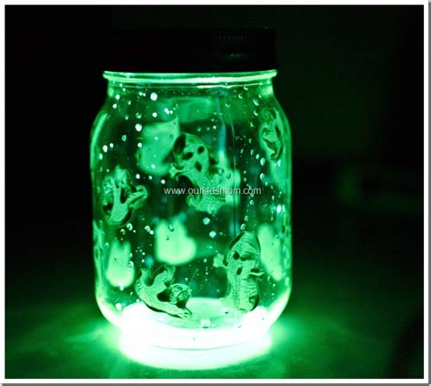 spooky crafts for spooky glow jars craft