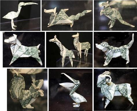 money origami animals fabric origami flower slideshow