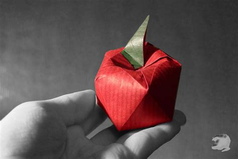 origami apple delicious looking origami food that you can almost taste