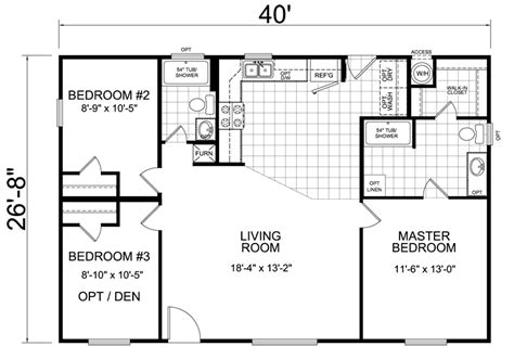 floor plans small homes home 28 x 40 3 bed 2 bath 1066 sq ft house
