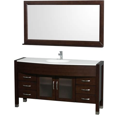 bathroom vanity 60 sink wyndham collection daytona 60 modern single sink bathroom