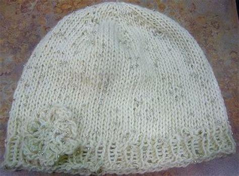 knit hat size 8 needles iris knit hat flower pattern allfreeknitting