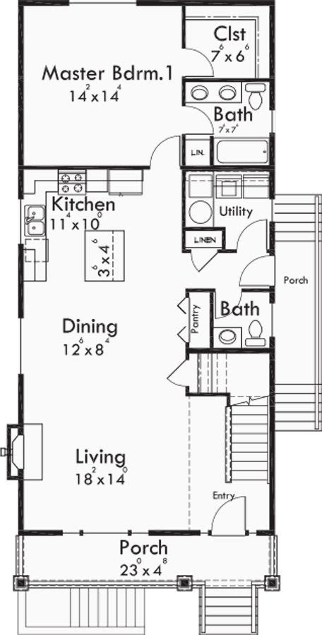 narrow lot house plans with basement best 25 narrow house plans ideas that you will like on