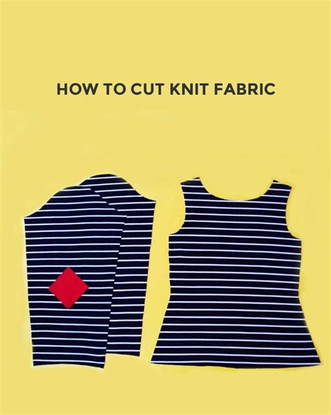 how to knit a cloth how to cut knit fabric