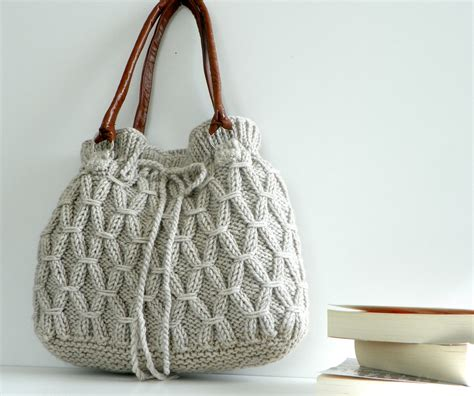 how to knit a purse bag nzlbags beige ecru knitted bag handbag shoulder bag
