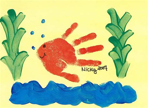 handprint crafts for handprint fish preschool for to remember