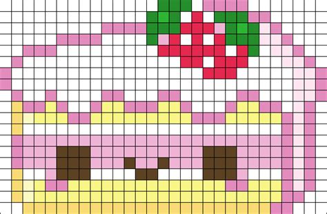 kawaii perler bead patterns kawaii cake perler bead pattern bead sprites food fuse