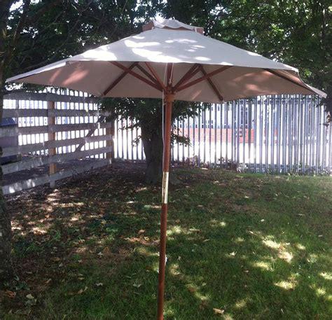 patio umbrella fabric ecru 2 7m parasol garden patio umbrella fabric