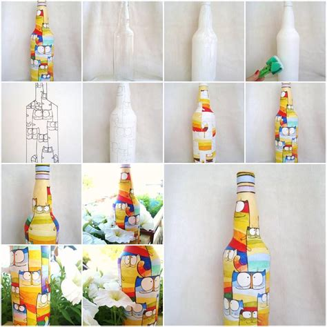acrylic painting step by step tutorial how to paint pretty acrylic painting on bottles step by