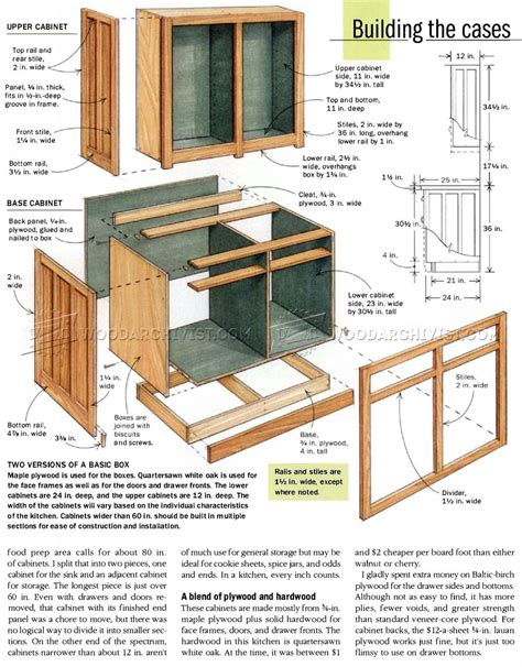 kitchen cabinets plans kitchen cabinets plans woodarchivist