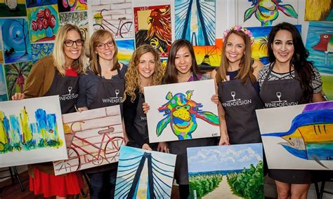 groupon paint nite island ny painting class wine and design staten island ny groupon