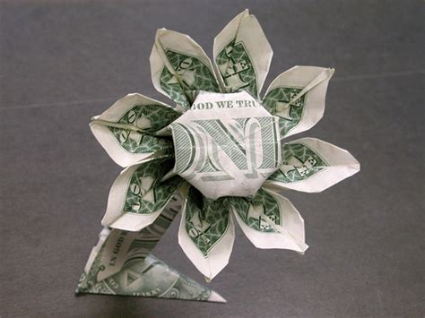 dollar bill origami flower dollar bill flower flickr photo