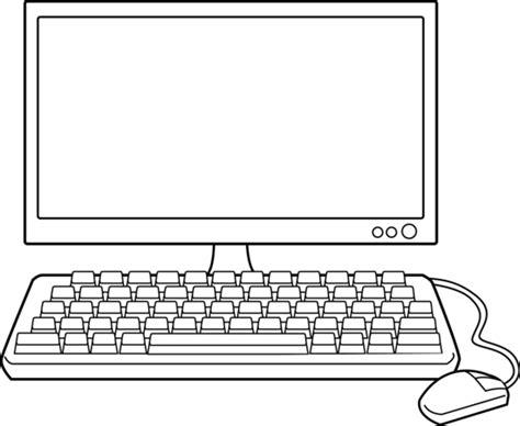 drafting computer desk desktop computer line free clip