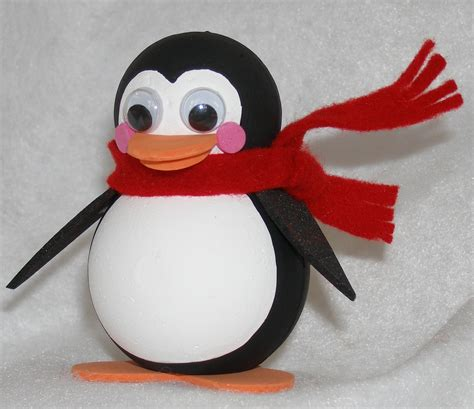 penguin crafts for to make national craft month roly poly penguin smoothfoam
