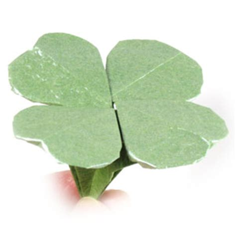 origami four leaf clover how to make a four leaf origami clover st s day