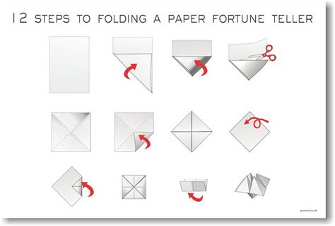 how to make a fortune teller origami step by step 12 steps to folding a paper fortune teller new arts
