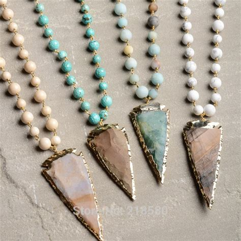 rosary chain for jewelry n15103110 rosary chain necklace arrowhead pendant