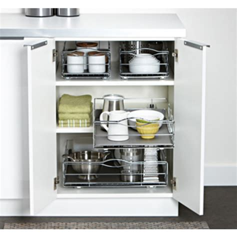cabinet organizers simplehuman chrome plated steel grey 20 wide kitchen